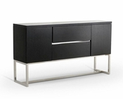 Modern Black Two-Door Buffet 44D13147B