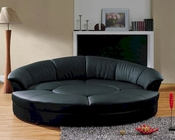 Modern Bonded Leather Circular Sectional 5-Piece Sofa Set 44L6025