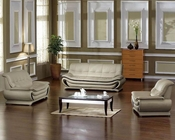 Modern Bonded Leather Sofa Set 44L2801
