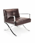 Modern Brown Leather Lounge Chair 44LG011