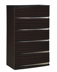 Modern Chest Agata in Wenge Finish 35B67