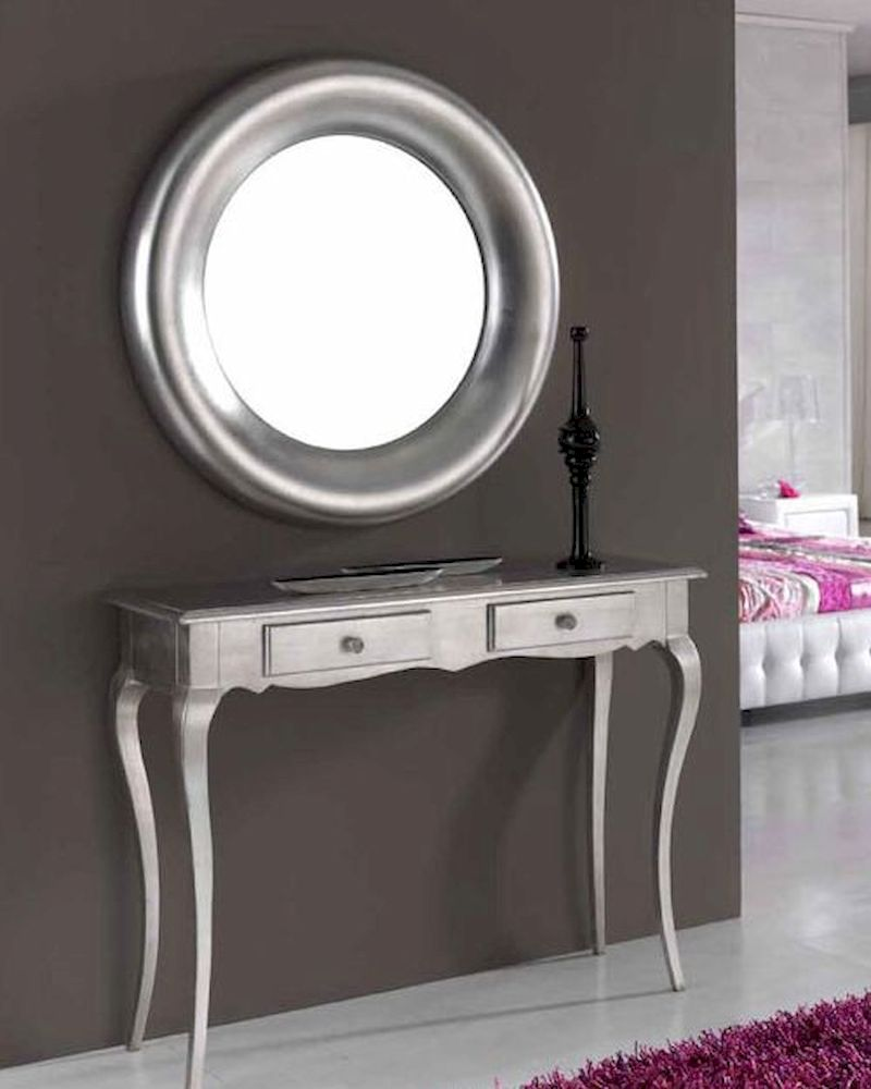 Modern console table and mirror set 33c51 for Foyer console table and mirror set