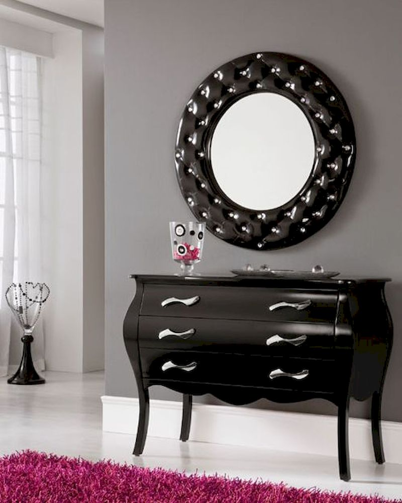 Foyer Table And Mirror On Sale On Kijiji : Modern console table and mirror set in black c