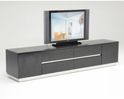 Modern Crocodile Lacquer TV Stand in Black 44D588-230B