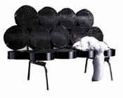 Modern Crocodile Texture Bench in Black 44LG045