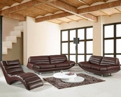 Modern Design Brown Leather Sofa Set 44LBO3979BRN