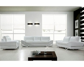 Modern Design Leather Sofa Set in White 44L0744