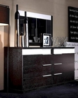 Modern Design Wenge Finish Dresser and Mirror  Made in Italy 44B3114