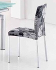 Modern Dining Chair Chrome European Design 33D203 (Set of 4)