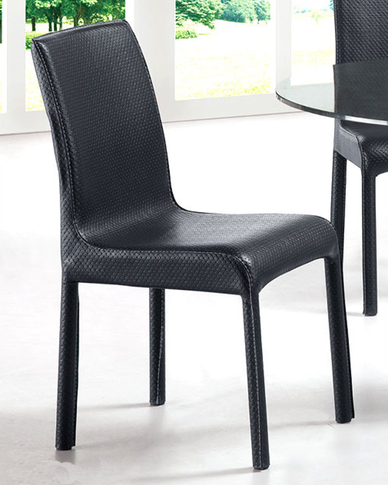 Modern dining chair in black european design 33d283 set of 4 for Modern black dining chairs