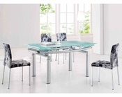 Modern Dining Set Chrome European Design 33D201