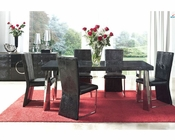 Modern Dining Set Cruz Glass Top Table European Design Spain 33D71
