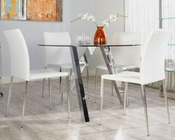Modern Dining Set Fridrika by Euro Style EU-24216Set