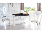 Modern Dining Set in White European Design 33D161