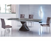 Modern Dining Set Pedestal Table European Design 33D311
