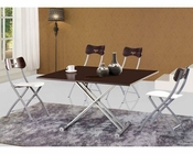 Modern Dining Set w/ Adjustable Base Table 33D481