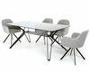 Modern Dining Set w/ Smoked Glass Table 44D6112BGSET