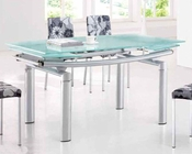 Modern Dining Table Chrome European Design 33D202