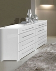 Modern Double Dresser in White Made in Italy 33B78