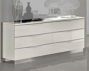 Modern Double Dresser Onda in White Color 33150ON