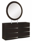 Modern Dresser and Mirror Agata in Wenge Finish 35B64