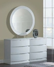 Modern Dresser and Mirror Agata in White 35B54
