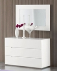Modern Dresser and Mirror Agata in White Made in Spain 33B334