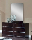 Modern Dresser and Mirror Anetta in Wenge Finish 35B93