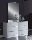 Modern Dresser and Mirror Anetta in White 35B83