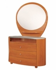Modern Dresser and Mirror Elma in Cherry Finish 35B14