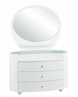 Modern Dresser and Mirror Elma in White 35B34