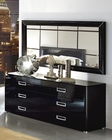 Modern Dresser and Mirror in Black Made in Italy 33B94