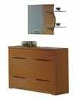 Modern Dresser and Mirror in Light Cherry Finish Made in Spain 33B204