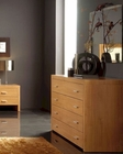 Modern Dresser and Mirror in Maple Finish Made in Spain 33B24