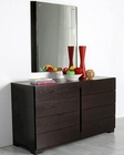 Modern Dresser and Mirror in Wenge Finish Made in Italy 44B2114
