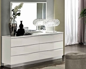 Modern Dresser and Mirror Onda in White Color 33190ON