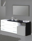 Modern Dresser in Black/ White Finish Made in Italy 44B5115BW