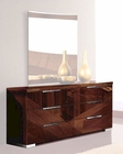 Modern Dresser in High Gloss Walnut Finish 33B175