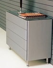 Modern Dresser Manuela in Silver Finish Made in Spain 33B365