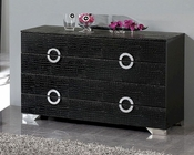 Modern Dresser Valencia in Black Made in Spain 33B255