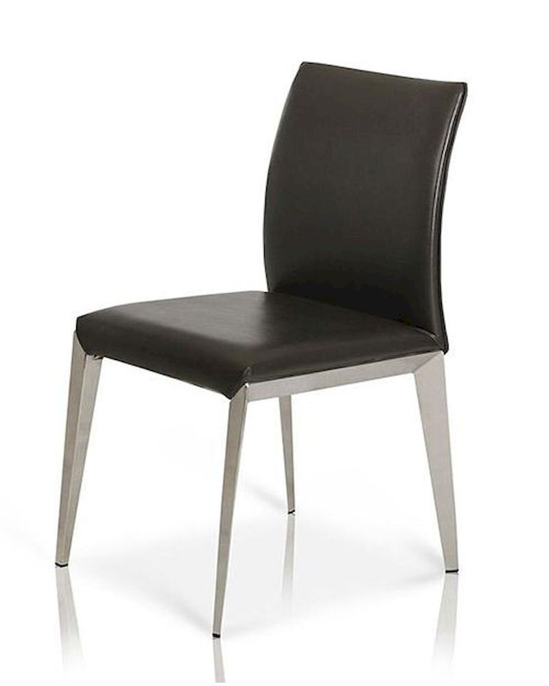 Modern eco leather dining chair 44d531y for Modern leather dining room chairs