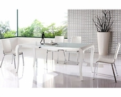 Modern Elegant Dining Set in White European Design 33D181