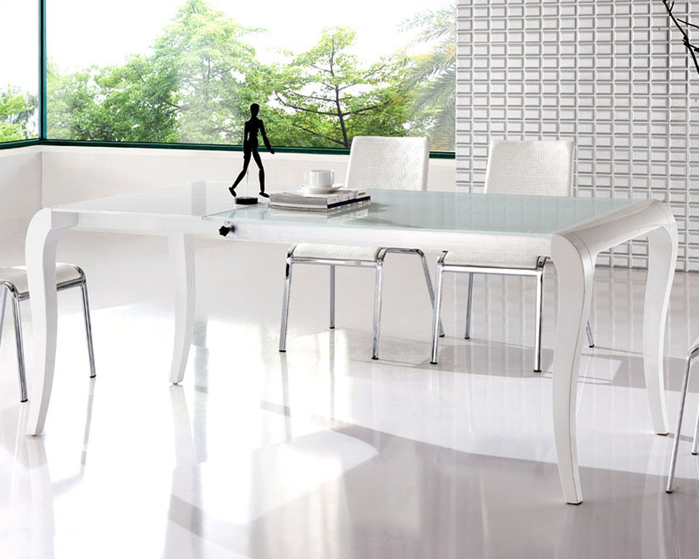 modern elegant dining table in white european design 33d182