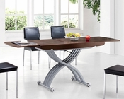Modern Expandable Dining Table in Wenge Finish European Design 33D262