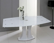 Modern Glass Extendable Dining Table 44D2331XT
