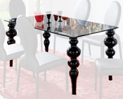 Modern Glass Top Dining Table European Design Made in Spain 33D222