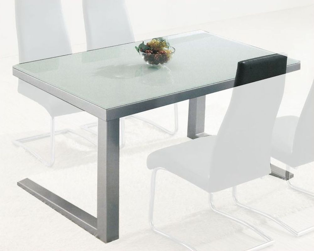 contemporary dining table modern glass top dining table ol dt05 13019