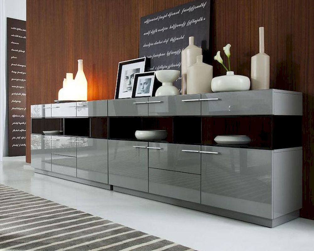 Modern Grey High Gloss Buffet 44db122