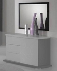 Modern High Gloss Finish Bedroom Mirror Made in Italy 44B2516