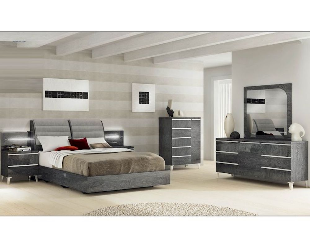 Modern italian bedroom set elite 3313ei - Contemporary king bedroom furniture ...